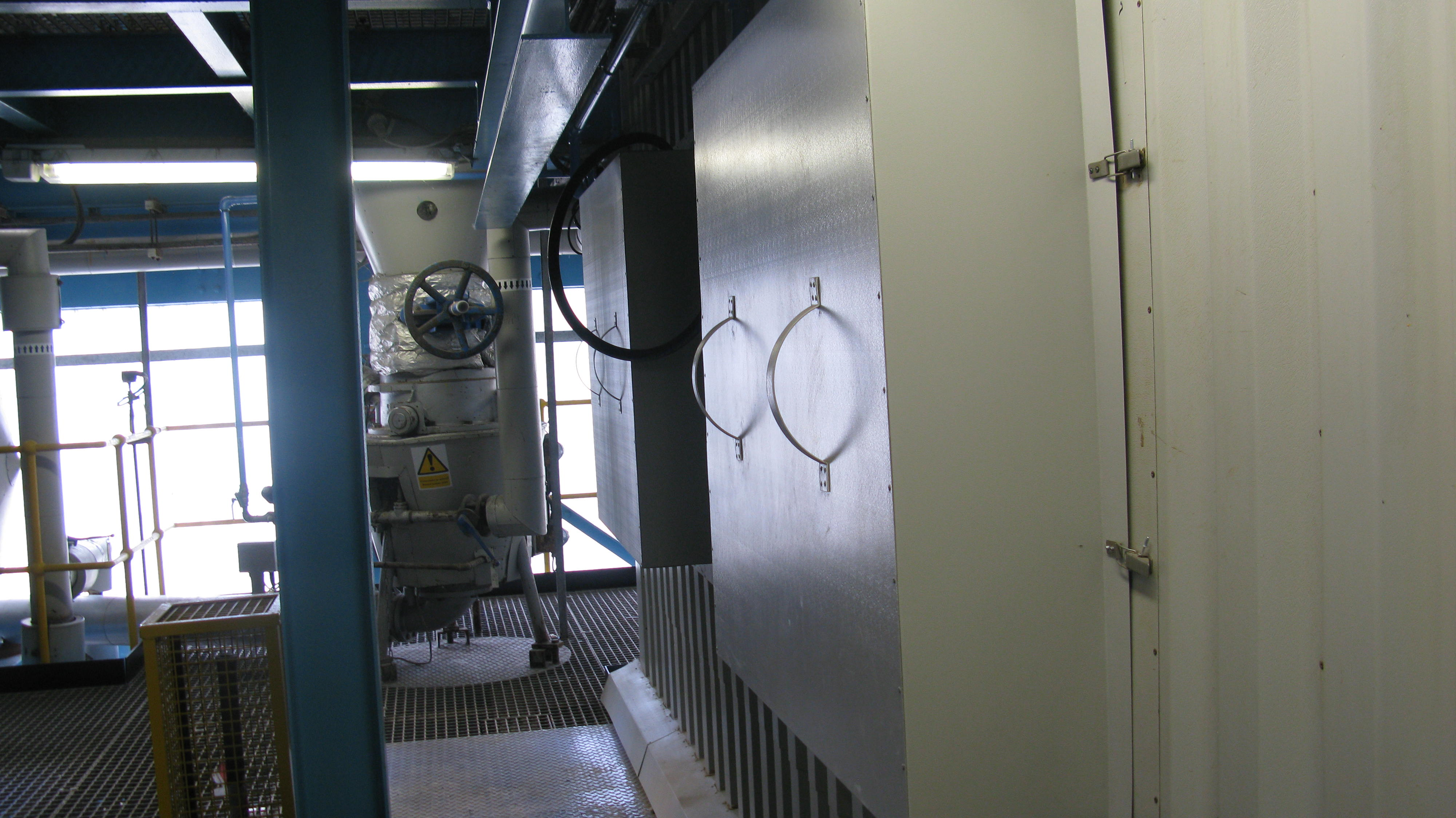 Acoustic Cleaners installed within enclosures on an Economiser